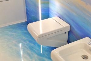 Co w łazience zamiast płytek - żywice dekoracyjne