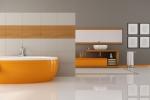 Aranżacja łazienki - tapeta